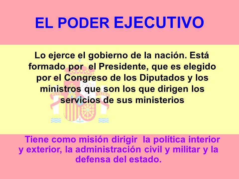 EL PODER LEGISLATIVO Las Cortes están formadas por dos Cámaras: Las Cortes Españolas constituyen el Parlamento de la Nación: Redactan las leyes, aprue