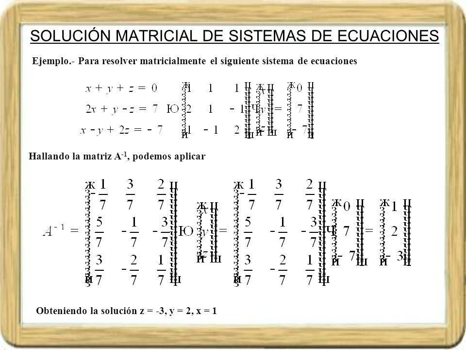RANGO DE MATRICES Dada la matriz A = ( a i j ) de orden m x n decimos que sus filas o columnas son linealmente independientes, cuando no se puede poner ninguna como combinación lineal de resto.