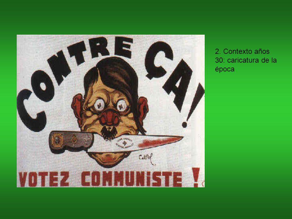 2. Contexto años 30: caricatura de la época