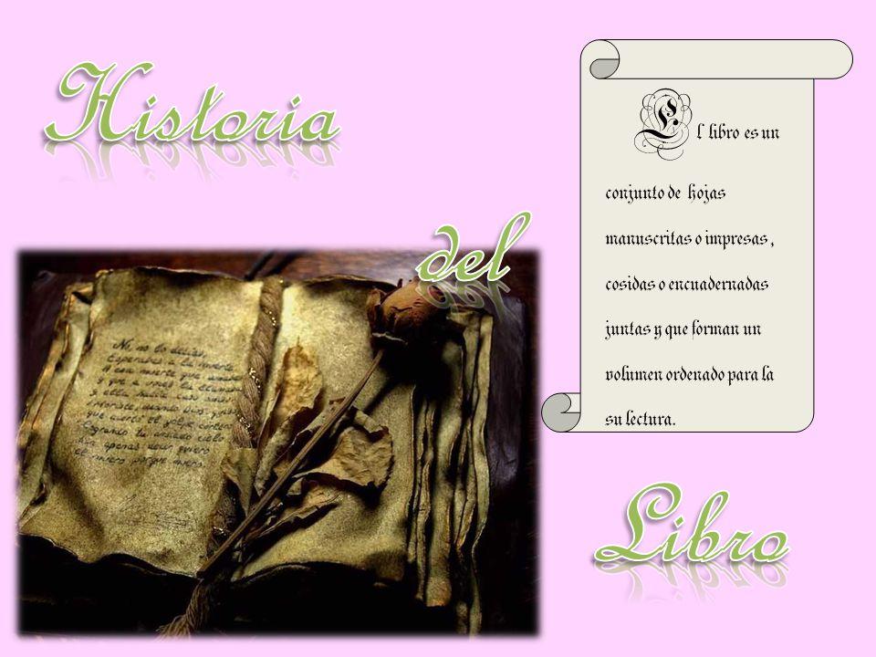 E l libro es un conjunto de hojas manuscritas o impresas, cosidas o encuadernadas juntas y que forman un volumen ordenado para la su lectura.