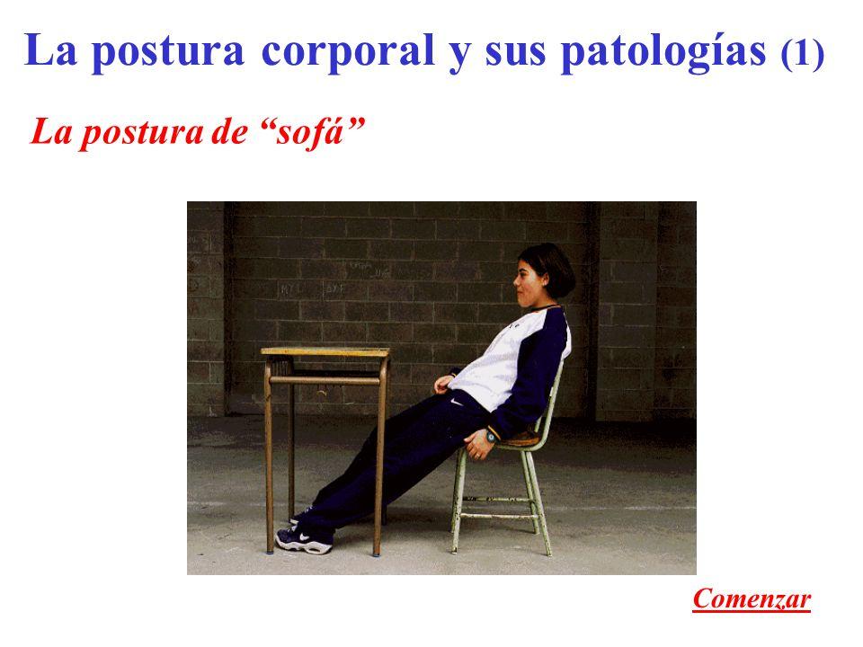 La postura de sofá La postura corporal y sus patologías (1) Comenzar