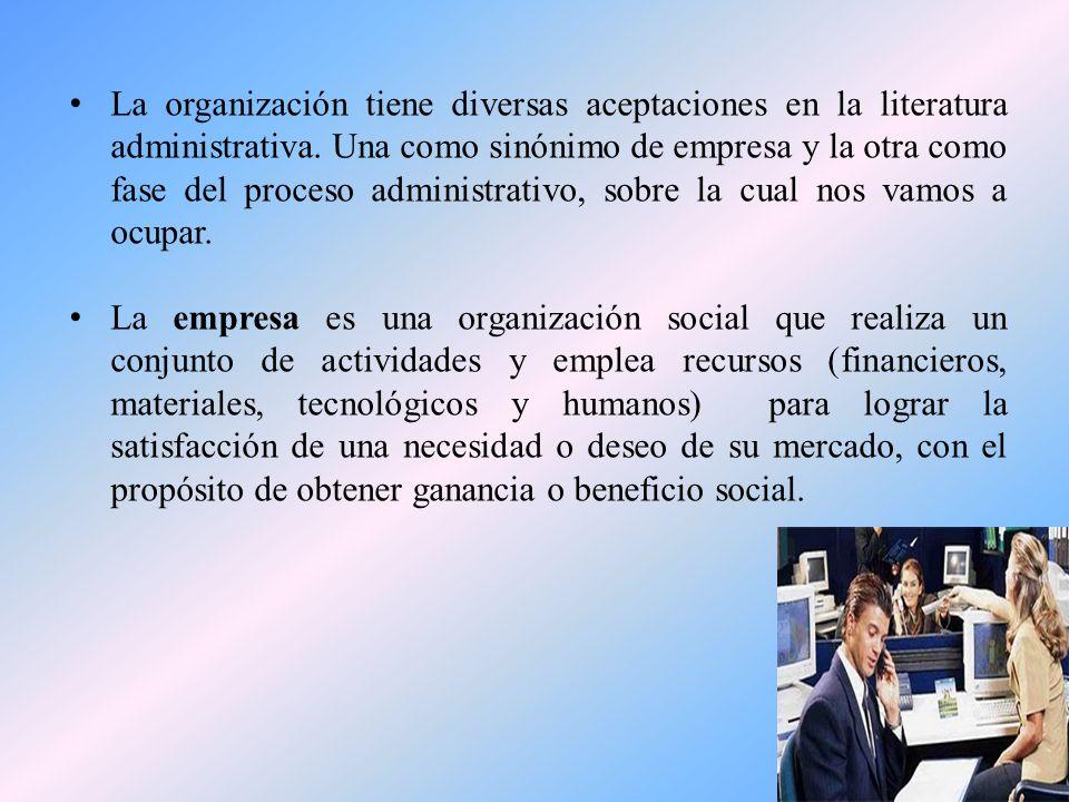 ¿Cómo definirían ustedes una organización?