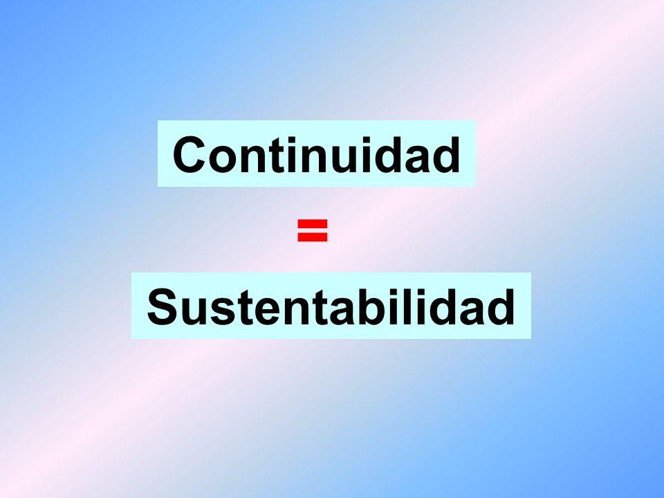Valores + Misión + Estrategia + Información + Toma de decisiones + Sistemas de evaluación = Continuidad