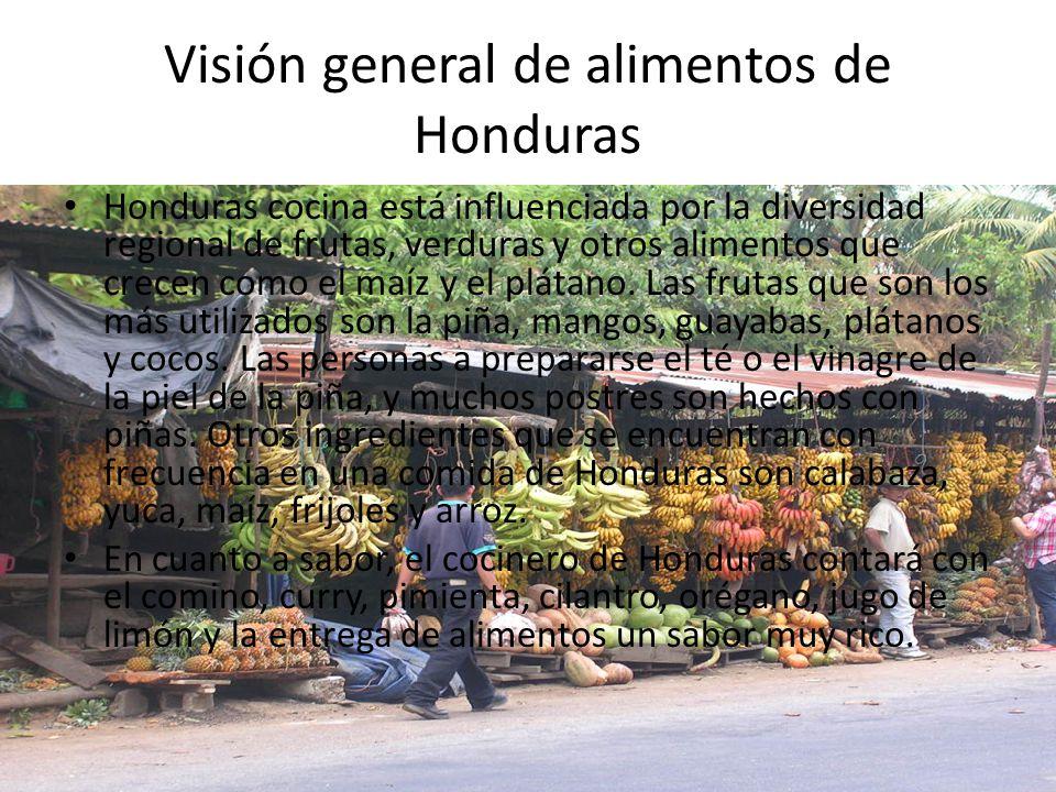 Alimentos comunes de Honduras Sopa de Carocol: – Uno de los platos más representativos de la cocina hondureña.