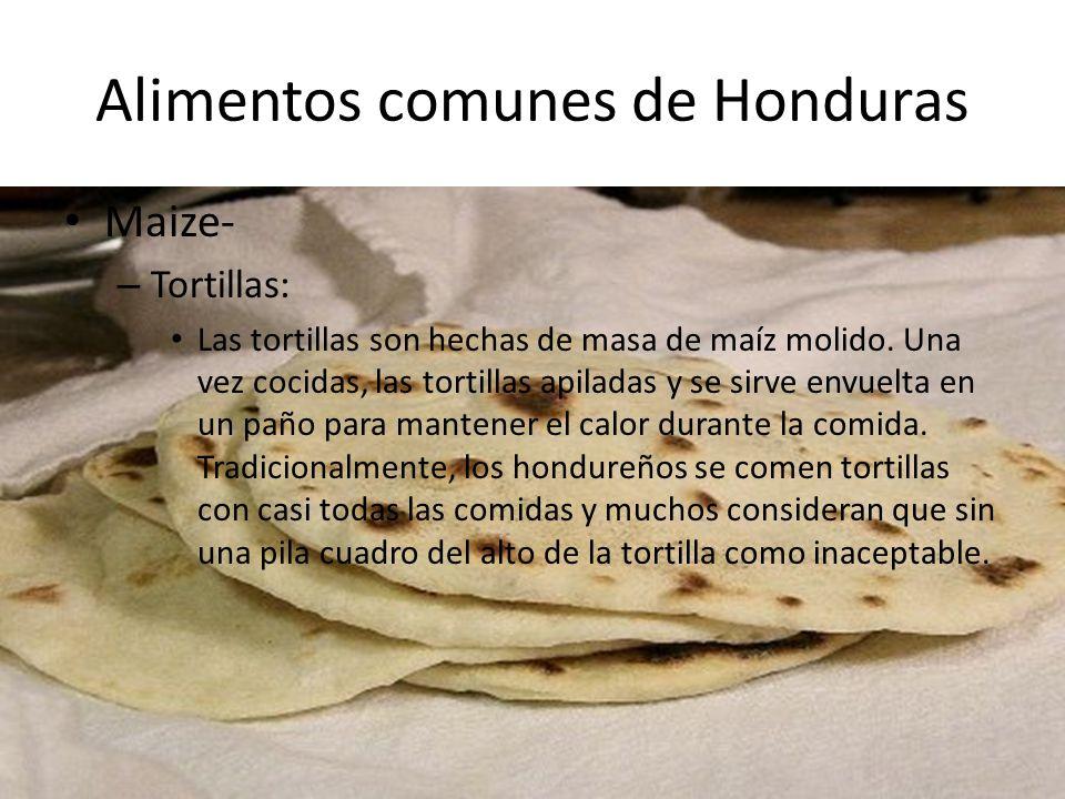 Alimentos comunes de Honduras – Enchiladas: La tortilla se fríe y se sirve con una variedad de ingredientes.