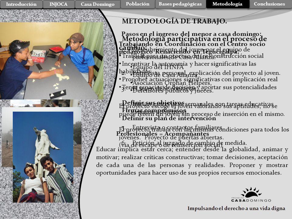metodologa injoca casa domingo introduccin poblacin bases pedaggicas metodologa de trabajo