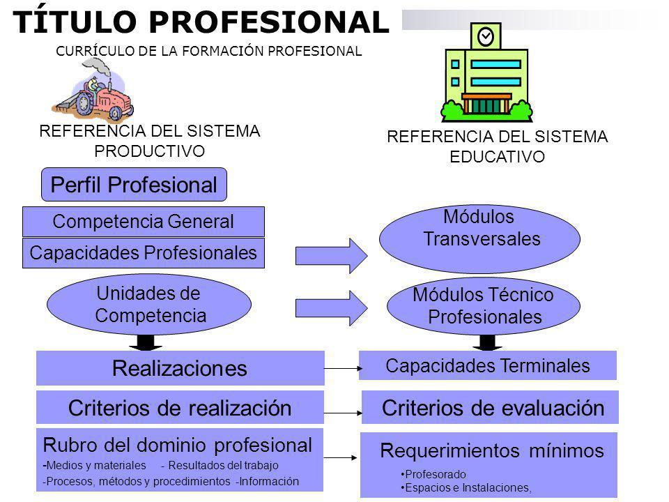 Son los instrumentos de vinculación de una oferta educativa a la demanda laboral.