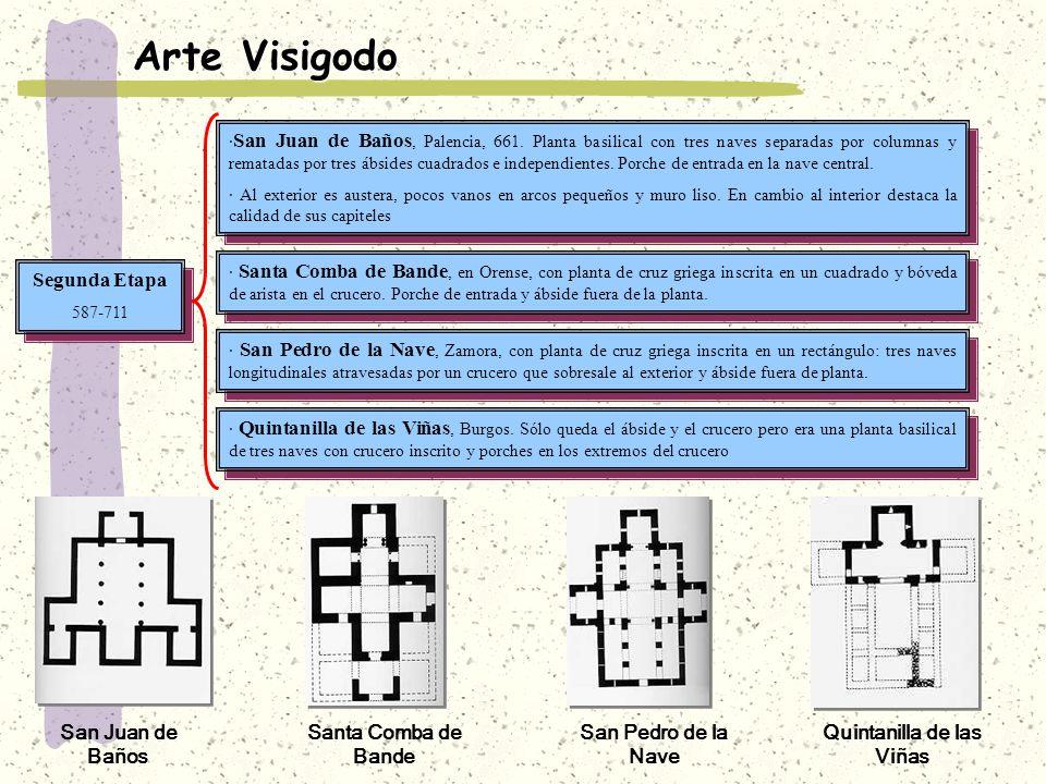 Baños Romanos De Bande:Arte Visigodo · San Juan de Baños, Palencia, 661 Planta basilical