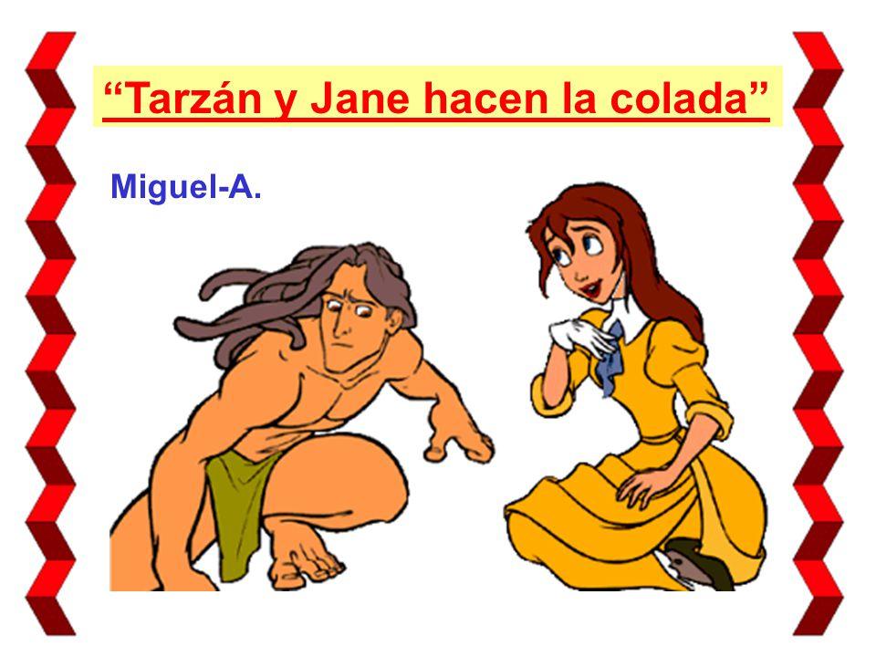 Debido a la inocencia de Tarzán, puesto que había vivido solo durante tanto tiempo, Jane le dio clases de sexualidad un día...