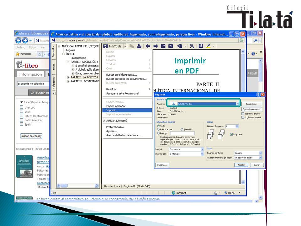 Imprimir en PDF