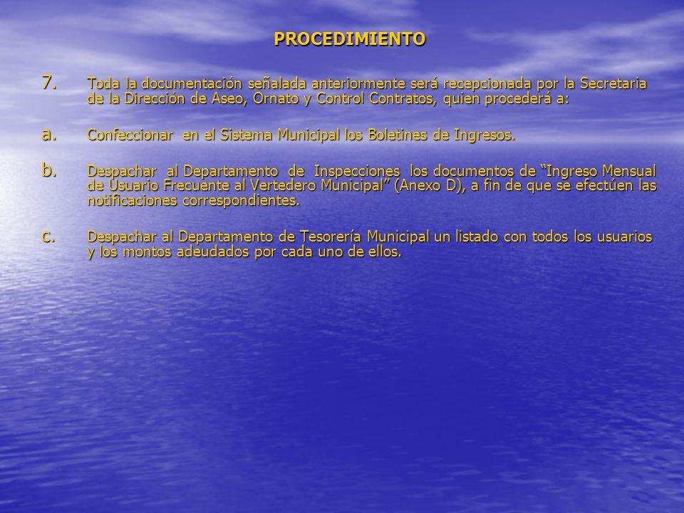 PROCEDIMIENTO 7.