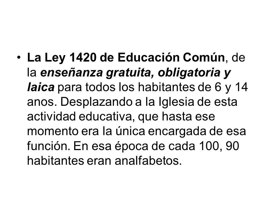 ley educacion 1420: