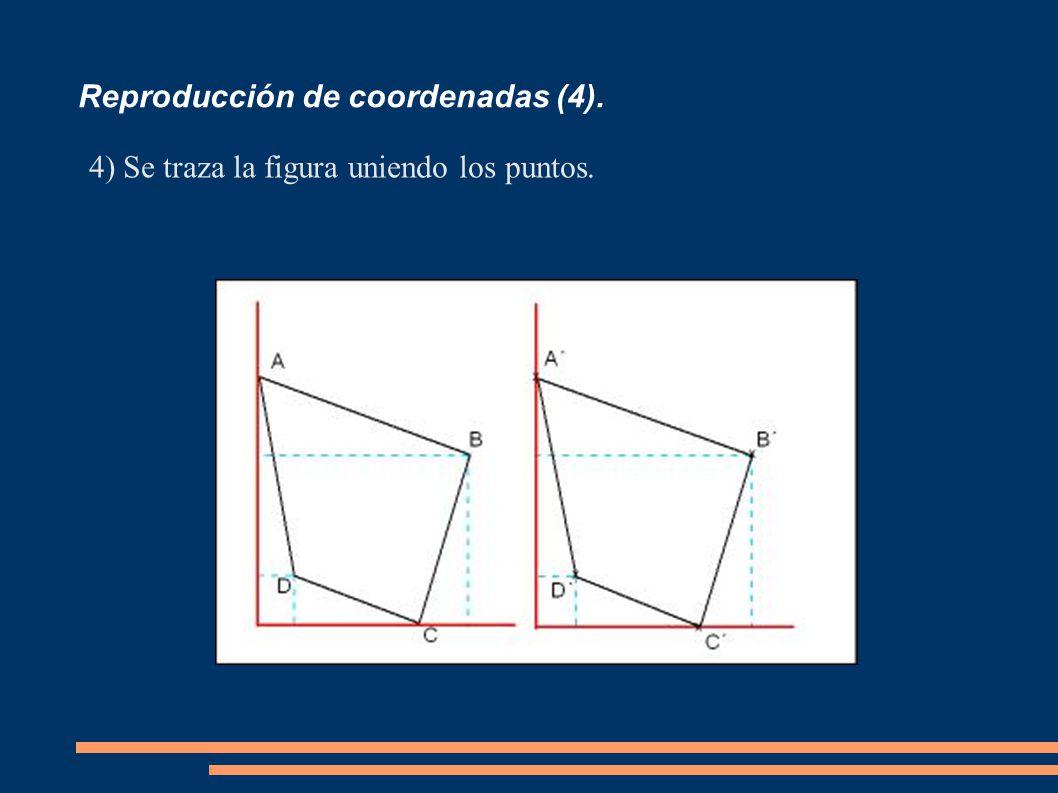 Reproducción de coordenadas (4). 4)Se traza la figura uniendo los puntos.