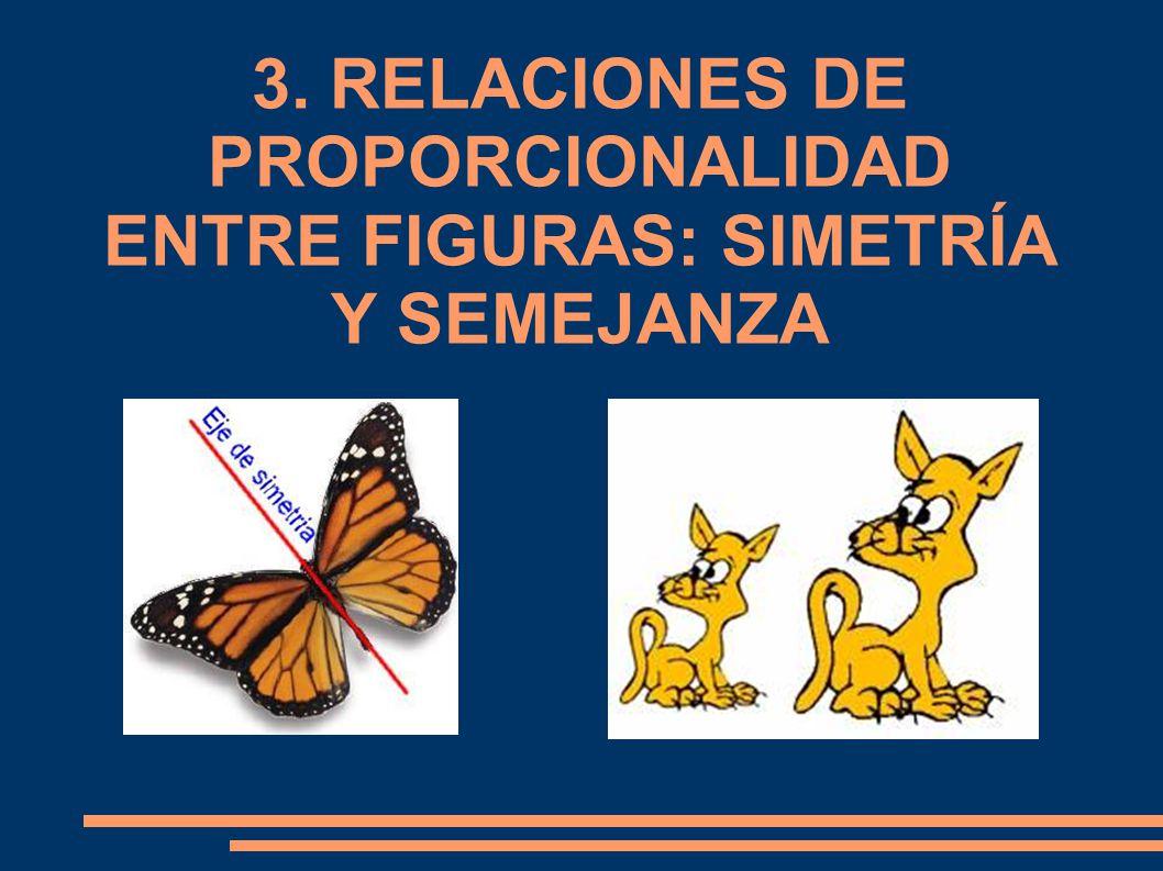 3. RELACIONES DE PROPORCIONALIDAD ENTRE FIGURAS: SIMETRÍA Y SEMEJANZA
