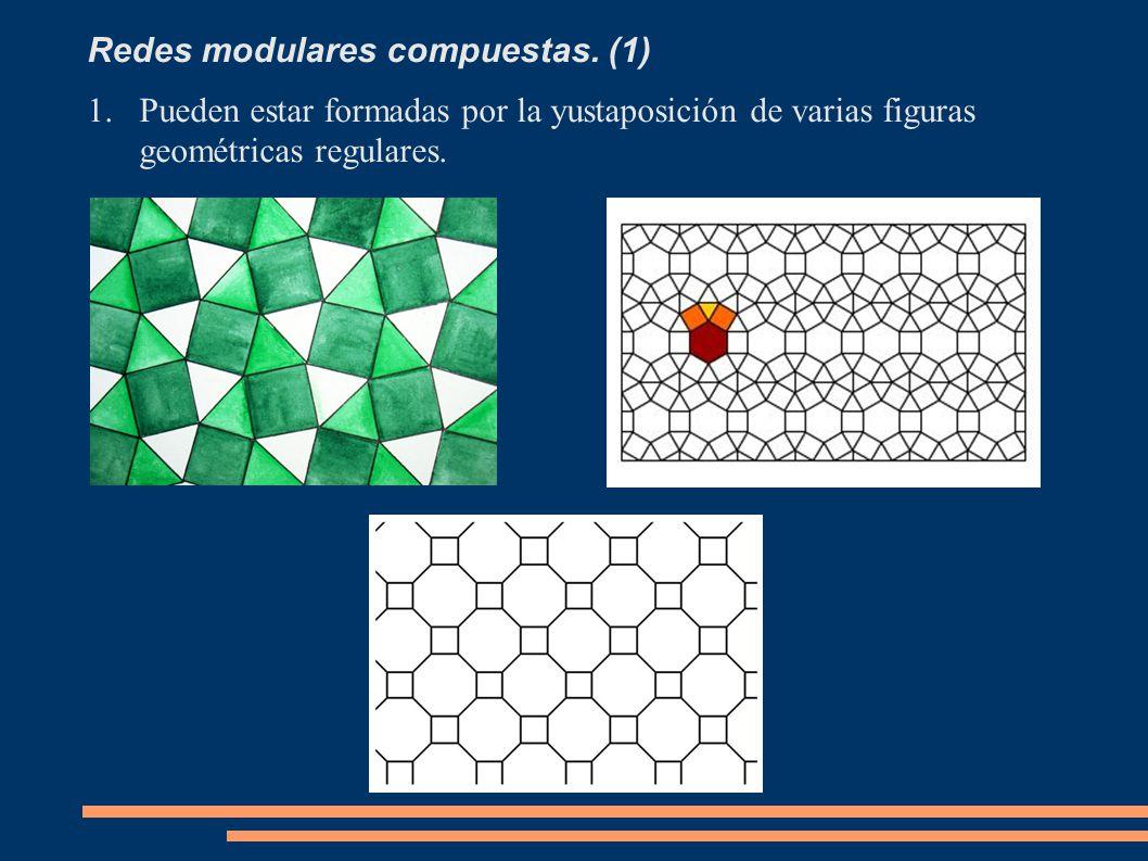 Redes modulares compuestas. (1) 1.Pueden estar formadas por la yustaposición de varias figuras geométricas regulares.