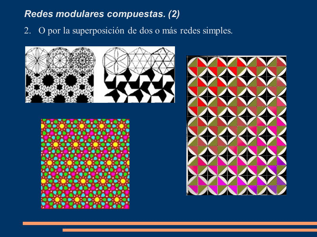 Redes modulares compuestas. (2) 2.O por la superposición de dos o más redes simples.