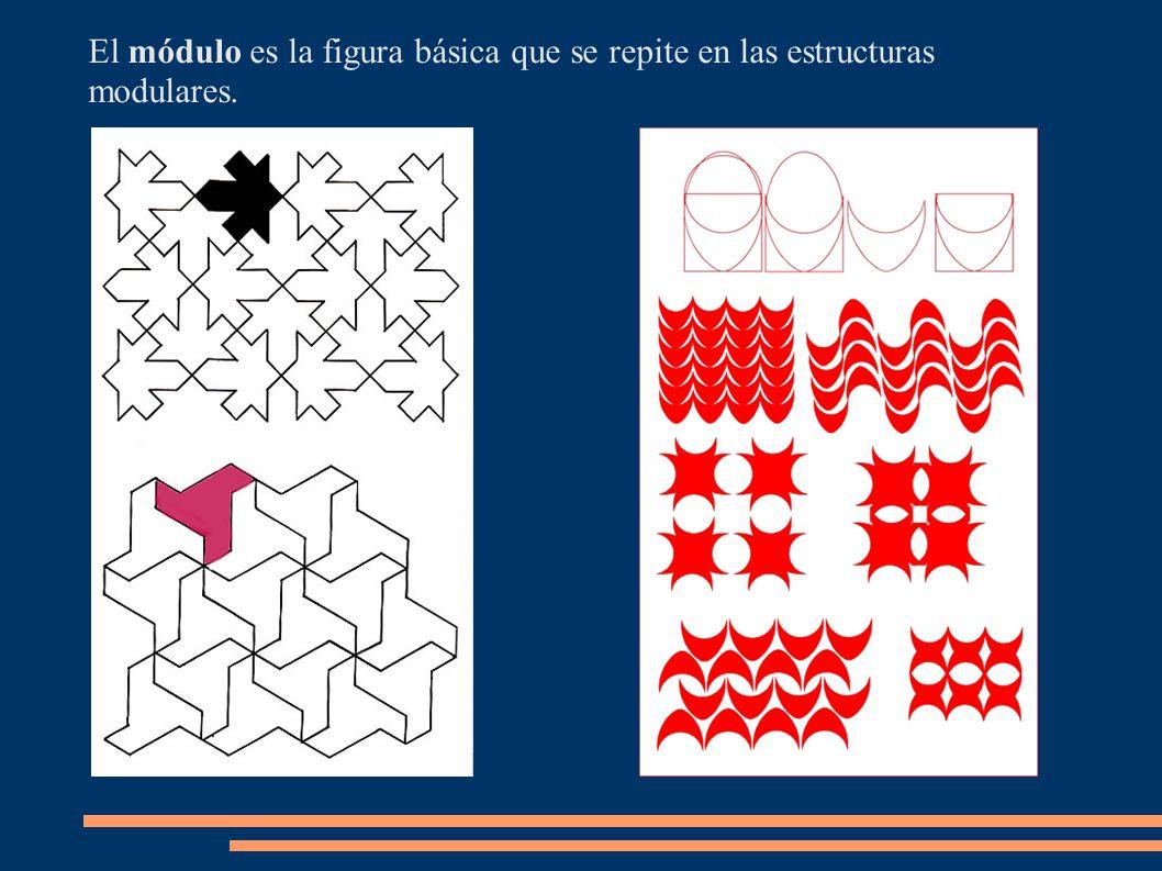 El módulo es la figura básica que se repite en las estructuras modulares.
