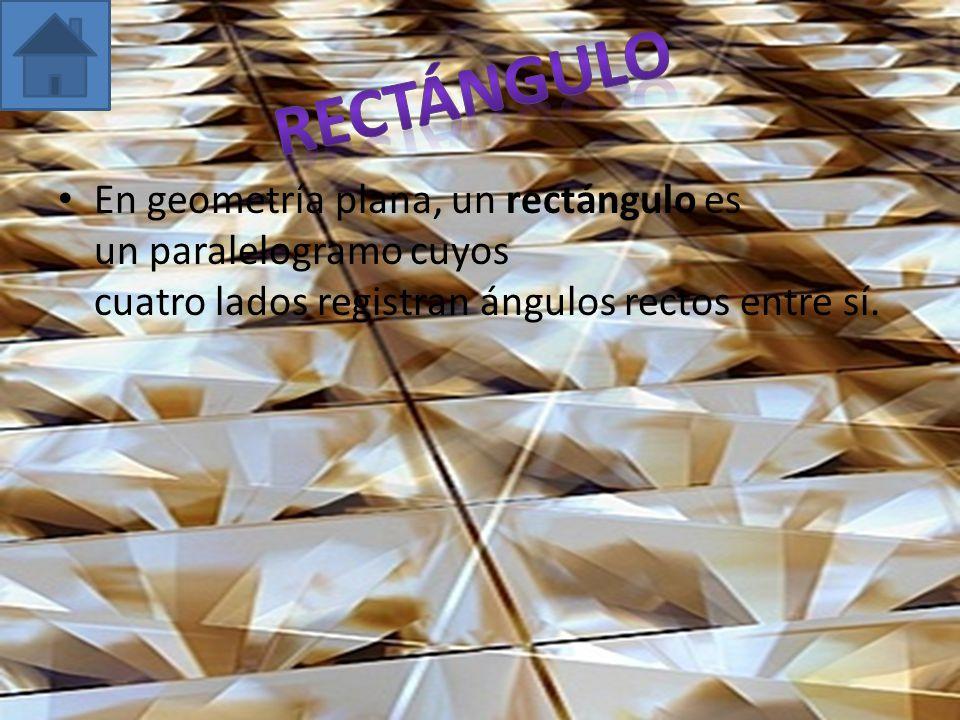 En geometría plana, un rectángulo es un paralelogramo cuyos cuatro lados registran ángulos rectos entre sí.