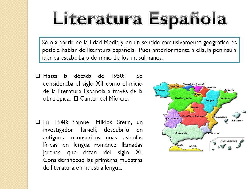 la literatura espanola en la edad media: