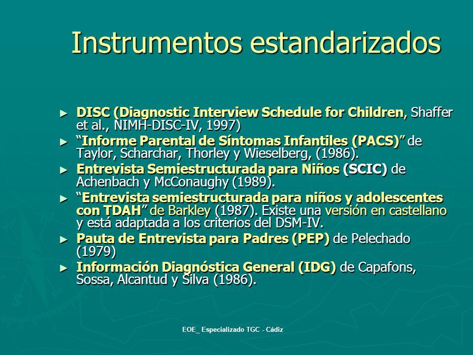instrumentos cadiz: