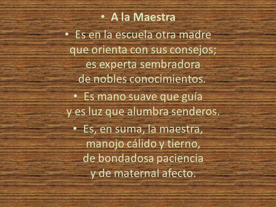 • El Maestro • La constancia, la paciencia el saber y la confianza esos son los maestros que derrotan la ignorancia.
