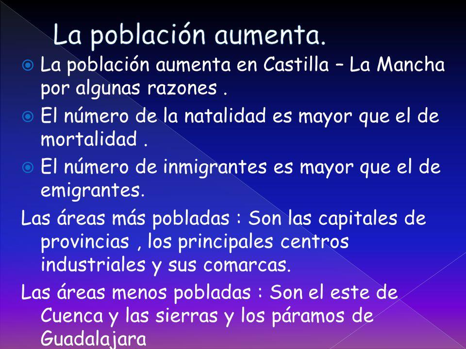  La población aumenta en Castilla – La Mancha por algunas razones.