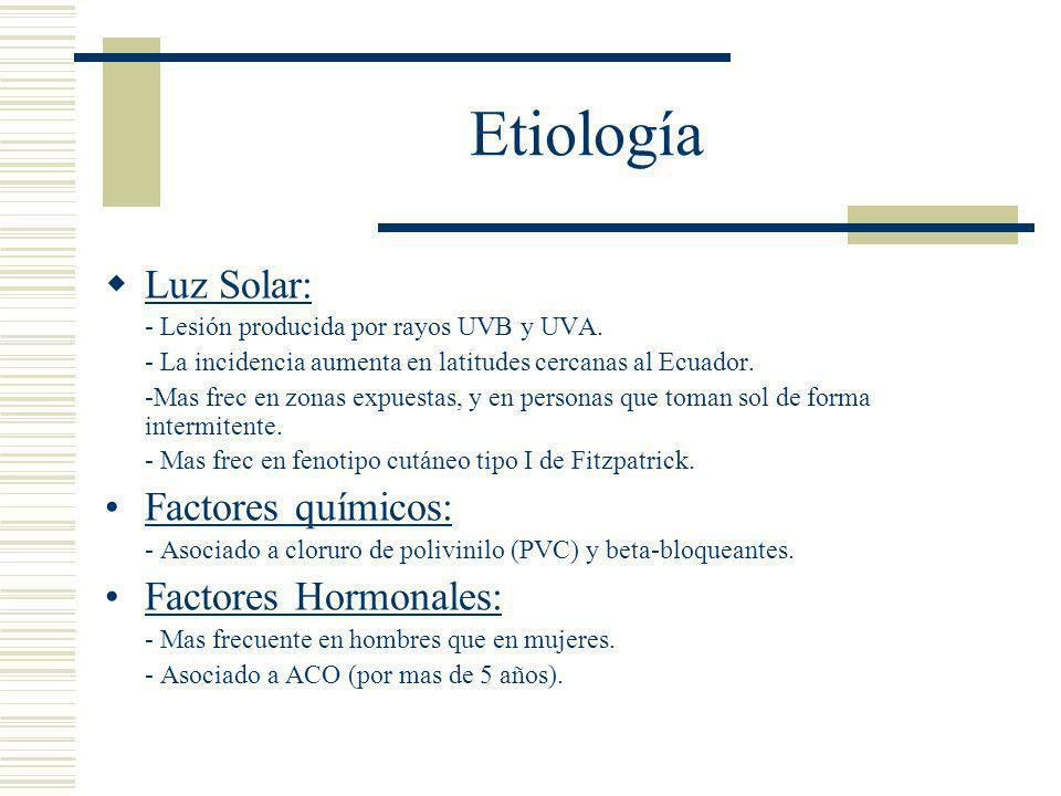 Etiología - Embarazo: el estrógeno estimula la producción de melanina.