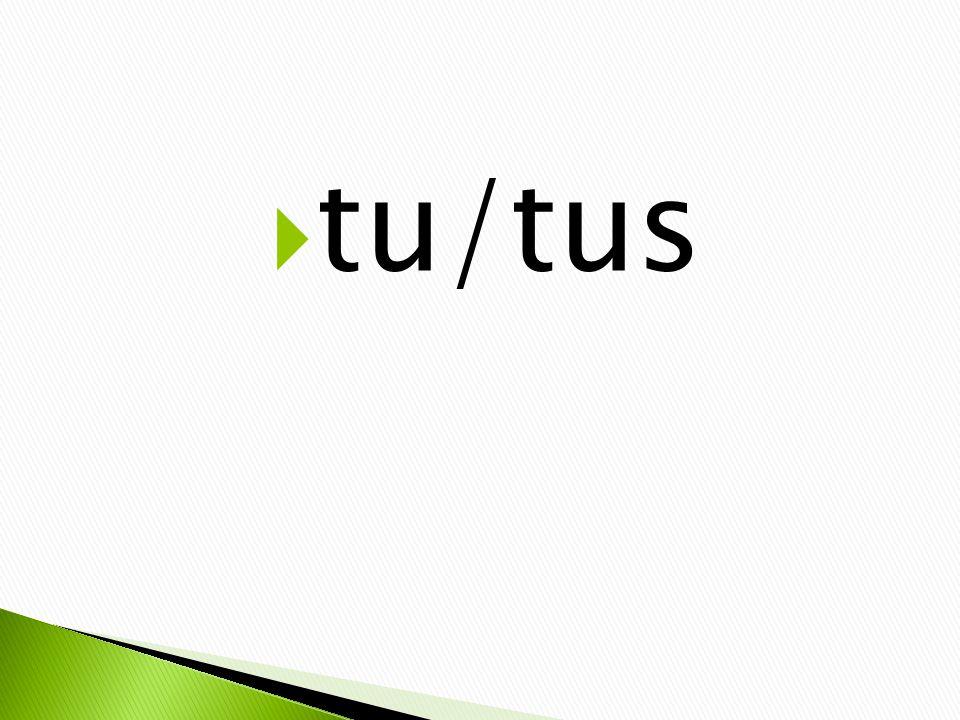  tu/tus
