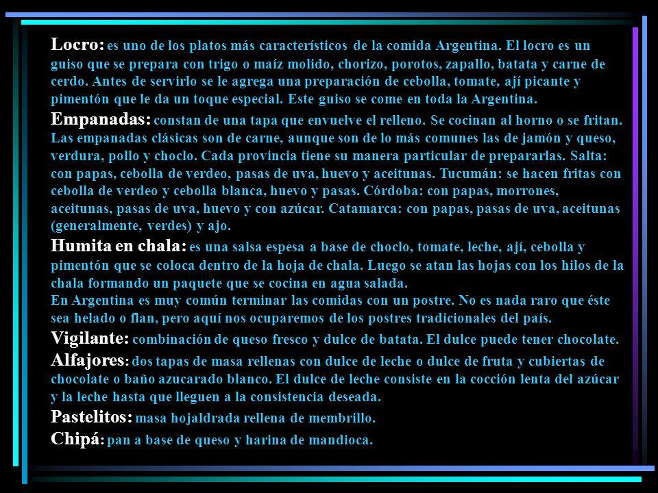 Locro: es uno de los platos más característicos de la comida Argentina.