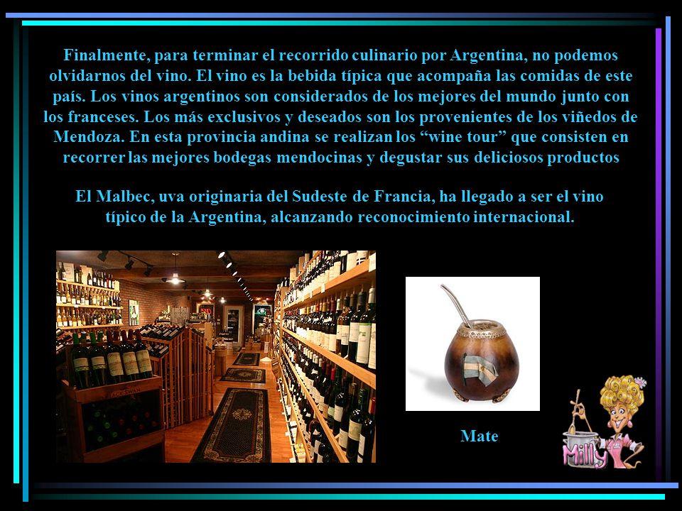Finalmente, para terminar el recorrido culinario por Argentina, no podemos olvidarnos del vino.