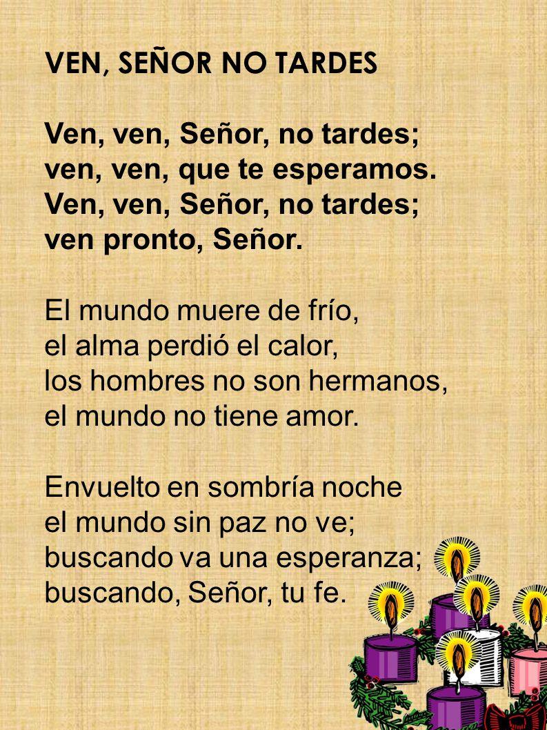 Salmo R. VEN, SEÑOR A SALVARNOS