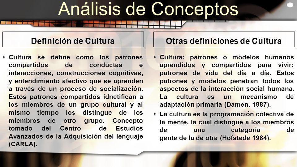 autooppizioni binario definicion de cultura y