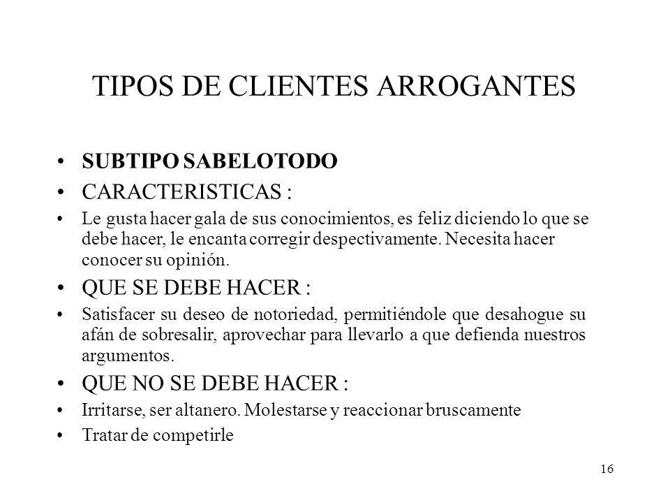 CONFERENCIA TIPOS DE CLIENTES JOSE GUILLERMO RODRIGUEZ ALARCON ...