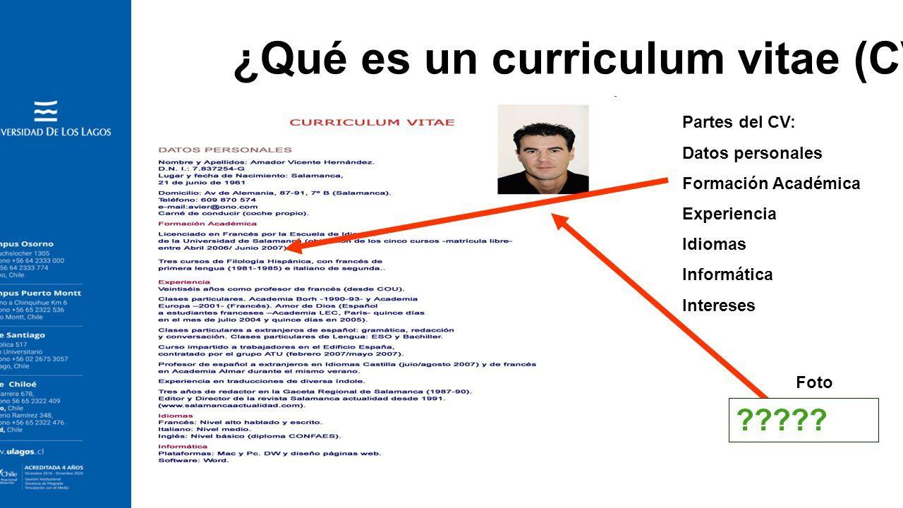 Excelente Escribiendo Curriculum Vitae Galería - Ejemplo De ...