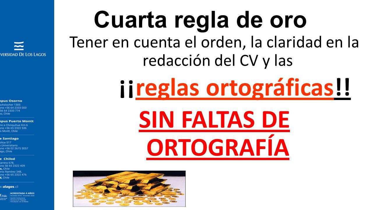 Excelente Reglas De Escritura Cv Festooning - Ejemplo De Colección ...