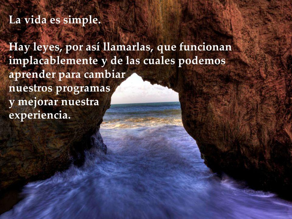 La vida es simple.