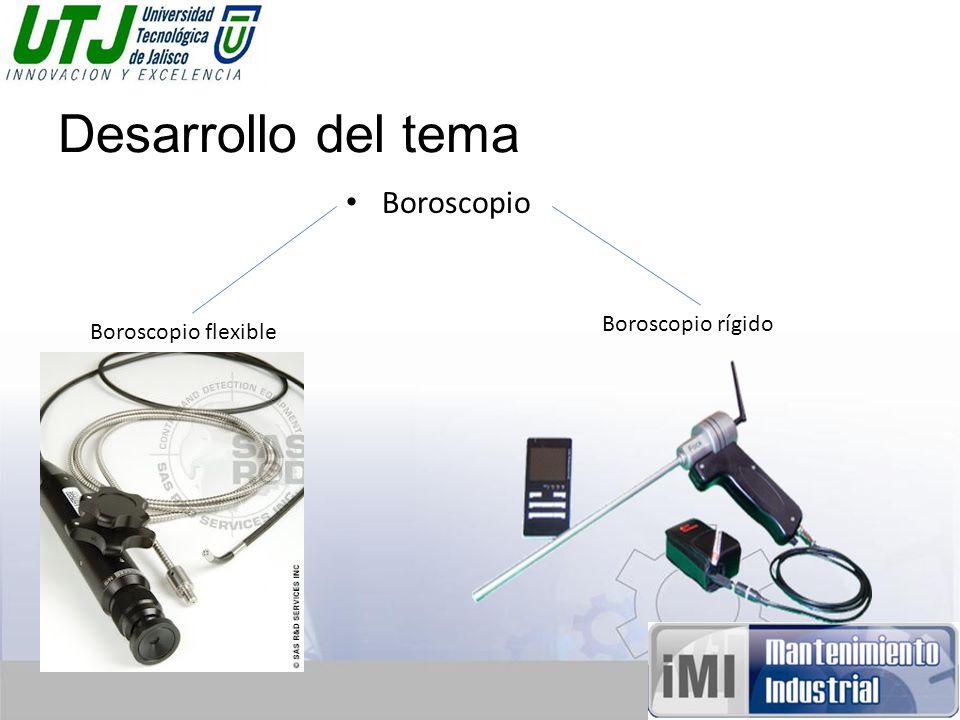 Desarrollo del tema Boroscopio Boroscopio flexible Boroscopio rígido