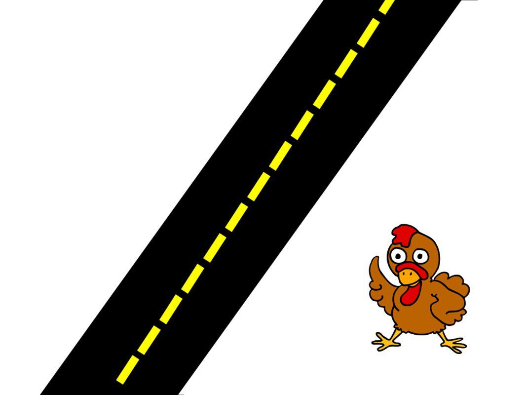 ¡Hola, amigos! Soy un pollo y hoy voy a cruzar esta calle.