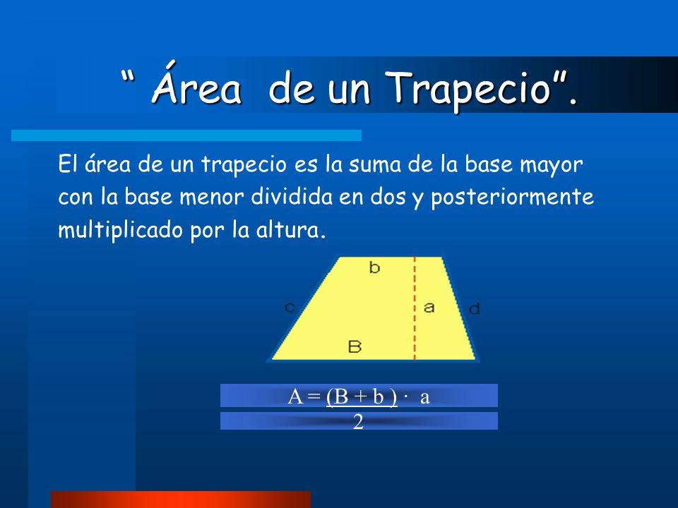 Área de un trapezoide . Área de un trapezoide .
