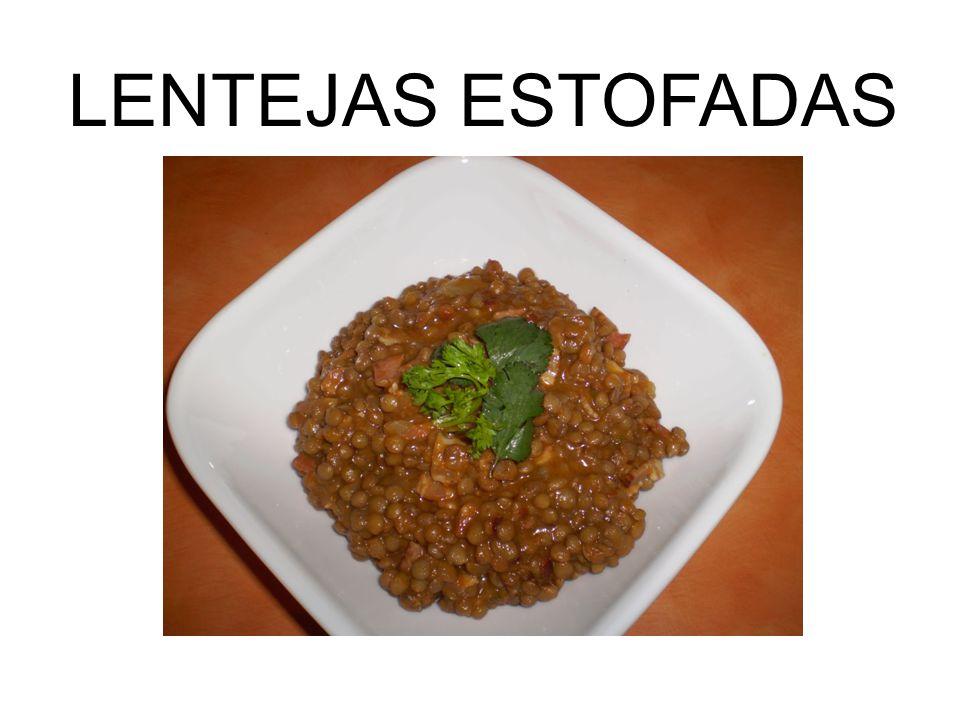 LENTEJAS ESTOFADAS