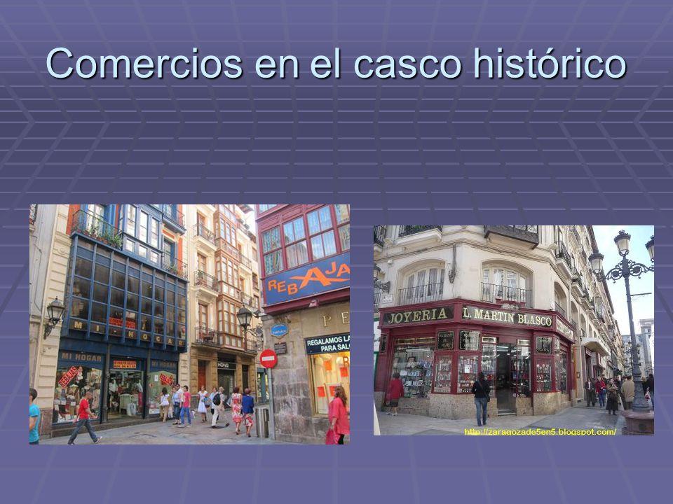 Sectores de la ciudad y funciones dominantes  1-Casco histórico (trama compacta).