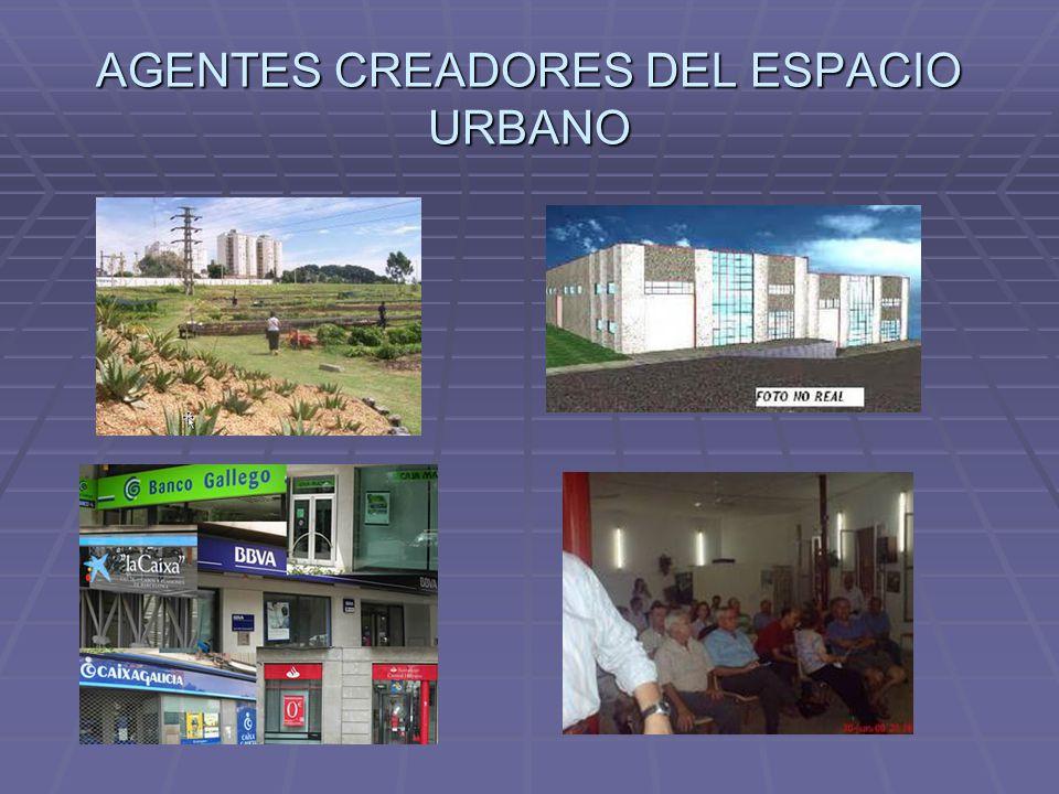 Agentes que intervienen en la creación y recreación de la ciudad  Los propietarios del suelo.  Los propietarios de los medios de producción.  Los b