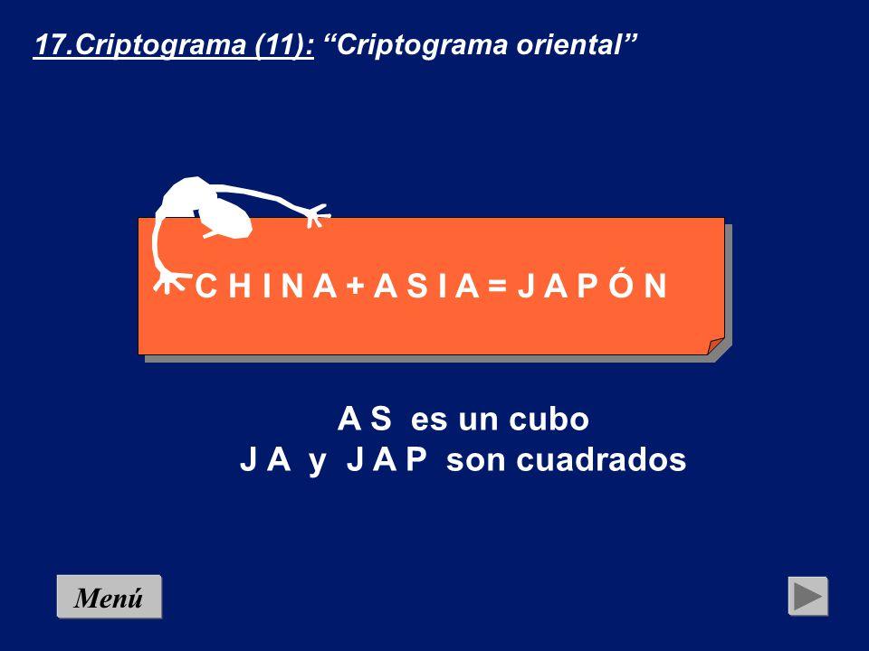 16.Criptograma (10): Criptograma radical Menú A A *