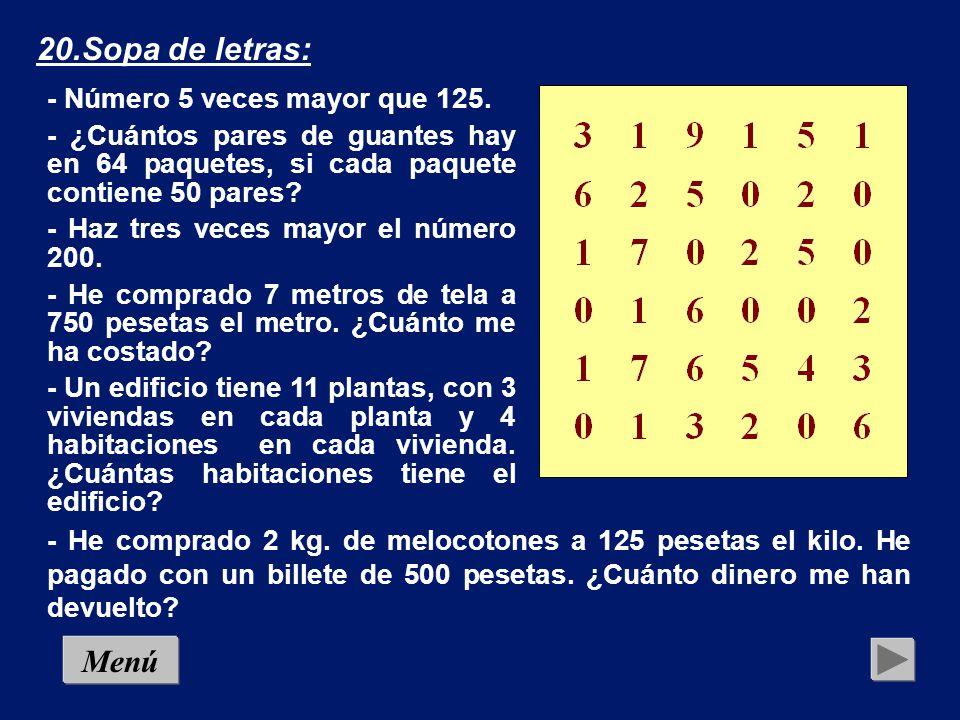 19.Criptograma (13): Menú