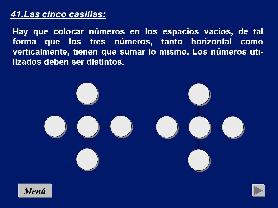 40.Problema que arde (10): Con 18 cerillas se obtiene el triángulo que aparece en la figura, compuesto por otros nueve triángulos más pe- queños.