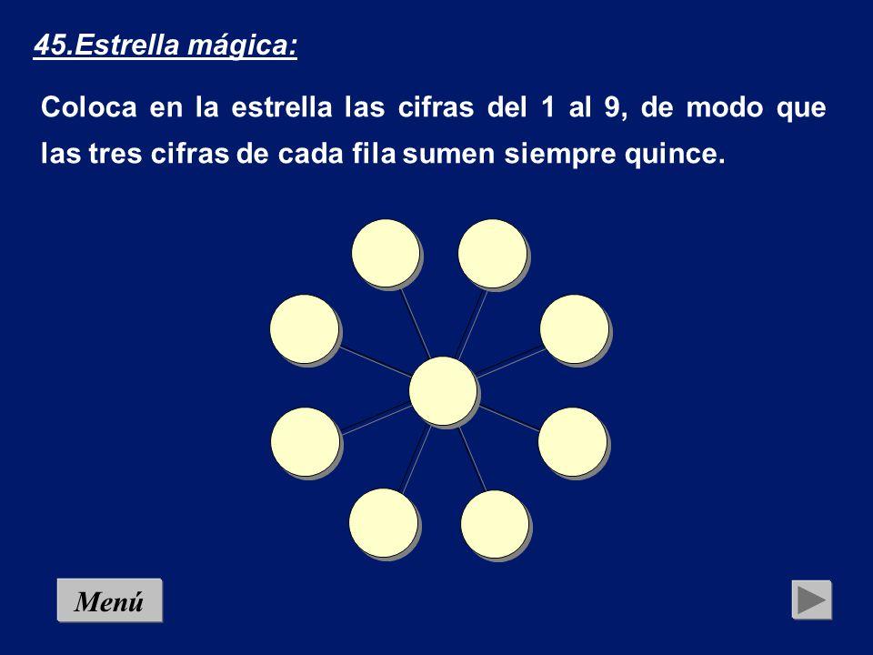 Esta vez tienes que colocar los dígitos del 1 al 8 de manera que la cifra colocada en cada círculo sea la suma de las dos colocadas en los cuadrados contiguos.