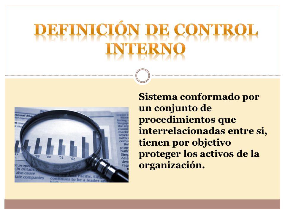 Sistema conformado por un conjunto de procedimientos que interrelacionadas entre si, tienen por objetivo proteger los activos de la organización.
