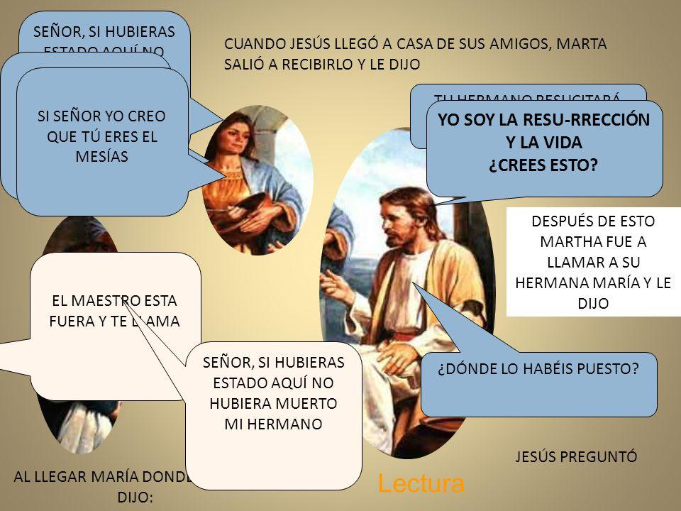 CUANDO JESÚS LLEGÓ A CASA DE SUS AMIGOS, MARTA SALIÓ A RECIBIRLO Y ...