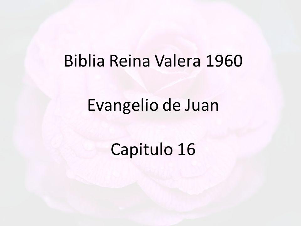 Biblia Reina Valera 1960 Evangelio de Juan Capitulo 16