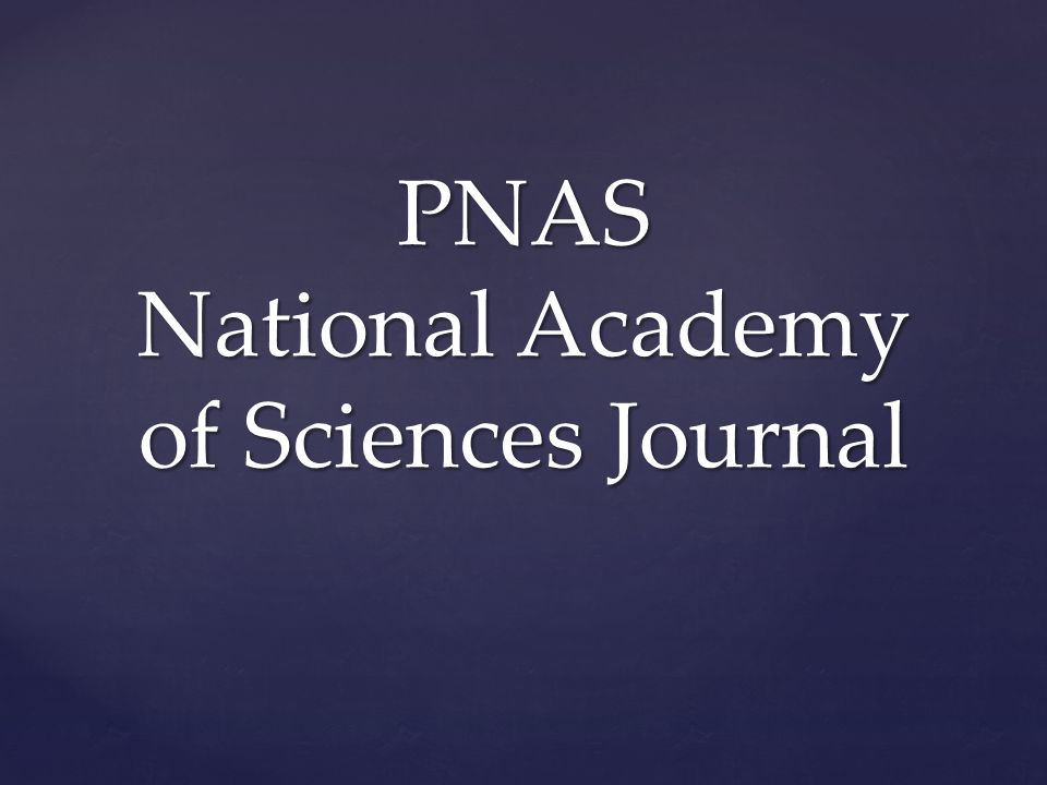 PNAS National Academy of Sciences Journal